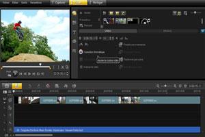 Corel VideoStudio timeline view